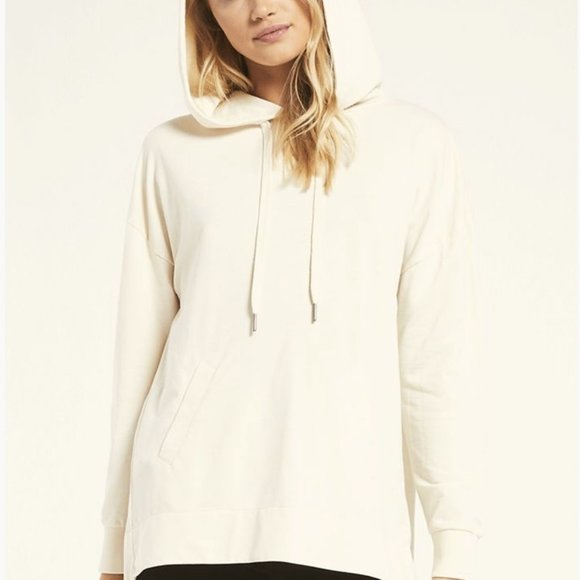 Z Supply Chicago Hoodie in Bone - Small